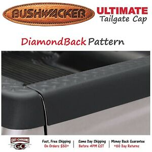 59506 Bushwacker Ultimate Black Bed Tailgate Cap Dodge Ram 2002 2008