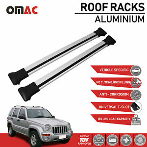 Roof Rack Cross Bars Luggage Carrier Silver For Jeep Liberty Kj 2002 2007