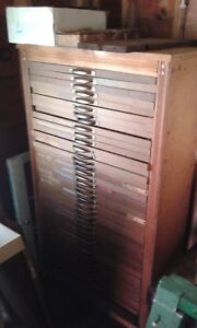 Antique Vintage Printers Type Set Cabinet Drawer With Tray Local Pickup Only