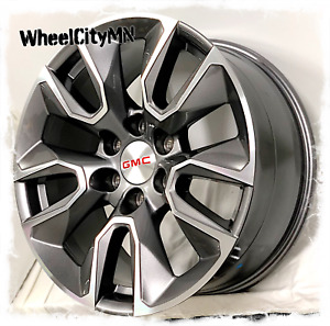 20 Inch Gunmetal Machine Chevy Silverado Rst Replica 5916 Rims Gmc Sierra 6x5 5