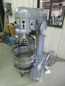 Hobart 60 Qt Mixer With Bowl Whip Flat Beater Dough Arm 115v Single Phase