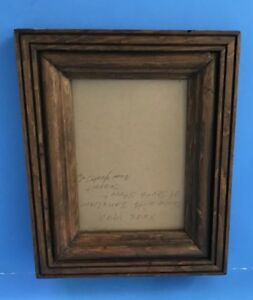 Vintage Wooden Picture Frame With Glass For 6 5 X 4 5 Photo