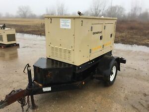 Generac 14 Kw Portable Diesel Generator 1 854 Hours Ready To Go