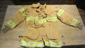 Lion Janesville Firefighter Fireman Turnout Gear Jacket Size 44 35 r b a1