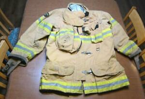 Lion Janesville Firefighter Fireman Turnout Gear Jacket Size 44 35 r c o1