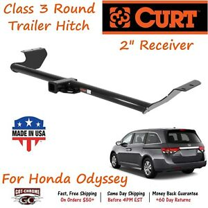 13068 Curt Class 3 Round Trailer Hitch With 2 Receiver Tube For Honda Odyssey