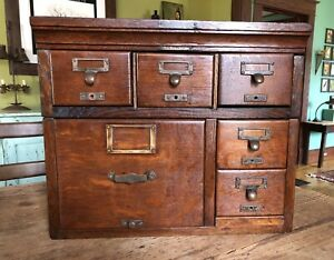 Antique Vintage Library Bureau Card Catalog File Cabinet 100 Yrs Old Rare
