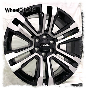22 Inch Gloss Black Machine 2018 Gmc Sierra Denali Oe Replica Wheels 6x5 5 24