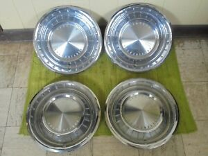 62 63 Lincoln Continental Hubcaps 14 Set 4 Wheel Covers 1962 1963 Hub Caps