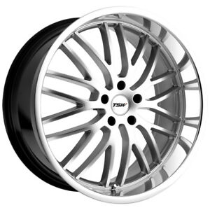 4 Tsw Snetterton 18x8 5x120 20mm Hyper Silver Wheels Rims