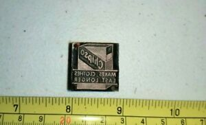 Vintage Letterpress Printing Block Chipso Laundry Soap Advertising