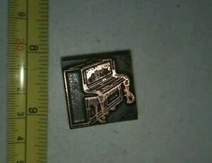 Vintage Letterpress Printing Block Piano Musical Instrument