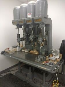 4 Spindle Leland Gifford Drill Press Multi Spindle
