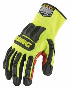 General Utility High Visibility Rigger Gloves Synthetic Leather pvc Palm