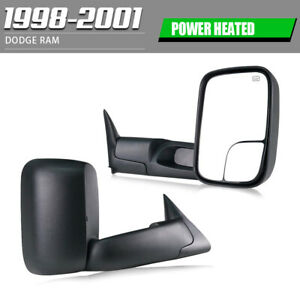 Left right Fit 98 01 Dodge Ram 1500 2500 3500 Flip Up Power heated Tow Mirrors