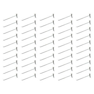 50 Pieces 12 Inch Chrome Metal Wire Gridwall Hooks Grid Panel Display Hanger