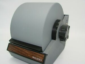 Vintage Metal Rolodex Locking File Retractable Cover 2254d No Keys Blue Excellen