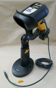Symbol Motorola Laser Barcode Scanner Long Usb Scanning Model Ds3508 Yellow Gray