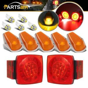2x80 Stop Turn Tail License Light 5x Amber Cab Marker Fit Ford Super Duty Truck