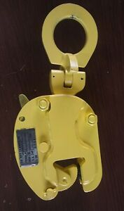plate Lifting Clamp Safety Clamp Inc Vl Univ 1 Ton 0 To 1 3 8