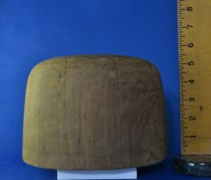 Vintage Hat Makers Wood Block Size 7 1 8 No 60 Millinery Mold Cowboy Stetson