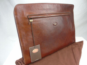 Nwts The Bridge Leather Underarm Document Wallet Briefcase Conference Folder