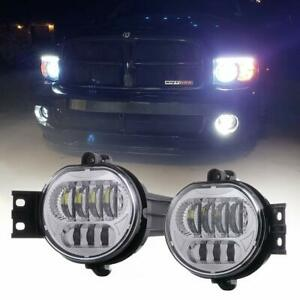 2pcs Front Bumper Led Fog Light Lamp Bright For Dodge Ram 1500 2500 3500 2002 08