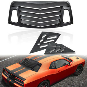 Rear Window Louver Quarter Side Window Scoop Louvers Vent For Dodge Challenger