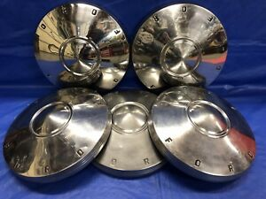 Vintage Set Of 5 1961 63 Ford Dog Dish Hubcaps Falcon Futura