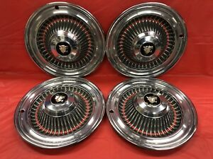 Vintage Set Of 4 1964 Buick 15 Hubcaps Wildcat Very Good Condition