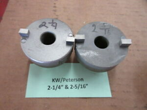 2 Used Kwik way peterson Valve Seat Cutters 2 1 4 2 5 16