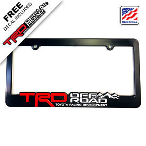 Trd off road license plate frames toyota racing development tacoma tundra 4runne