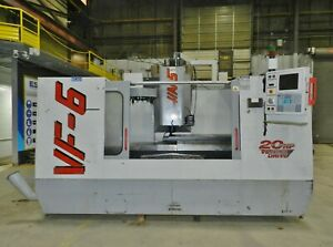Haas Vf 6 Cnc Vertical Machining Center 7500rpm Spindle Renishaw Probe