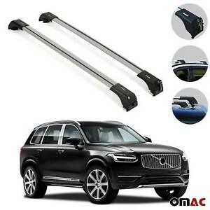 Roof Rack Cross Bars Luggage Carrier Silver Set For Volvo Xc90 2016 2020