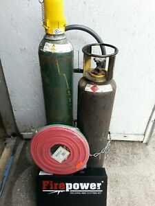 New Firepower Victor Oxygen acyleane Torch Set With Full Size Tanks And Cart
