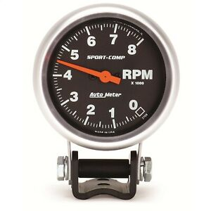 Autometer 3708 Sport comp Mini Competition Tach 2 5 8 8000 Rpm