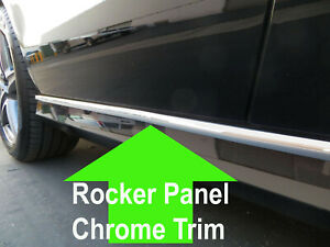 For Hondamodels Rocker Panel Body Side Molding Chrome Trim 2pc 2002 2019