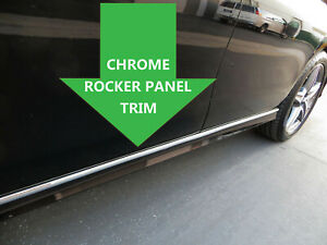 For Mercedes Benz Rocker Panel Body Side Molding Chrome Trim 2pc 1999 2006