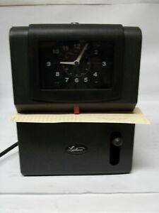 Lathem 2121 Time Heavy Duty High Volume Mechanical Time Clock Charcoal No Key