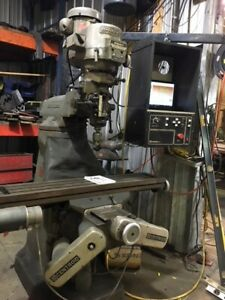 1978 Bridgeport Textron Milling Machine 9 x 48 Table