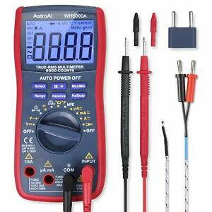 True Rms Digital Multimeter 6000 Counts Autorange Volt Tester Ac Dc Teamperature
