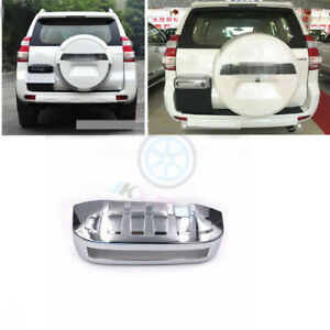Abs Chrome O Rear Trunk License Cover Trim For Toyota Lc Prado Fj120 2003 2009