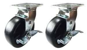 2 Heavy Duty Caster Set 4 5 6 8 Heavy Duty Plastic Rigid Swivel And Brake