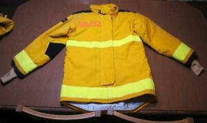 Lion Janesville Firefighter Fireman Turnout Gear Jacket Size 38 32 r d a1