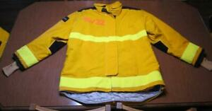 Lion Janesville Firefighter Fireman Turnout Gear Jacket Size 46 32 r d b1