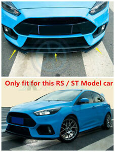 For Ford Focus Rs S 2016 18 Carbon Fiber Style Front Bumper Lip Guard O Cover 3x