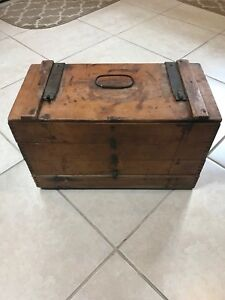 Antique Moss Hillyard S 1890 S Farmers Handy Egg Case Dovetail 4 Section Crate