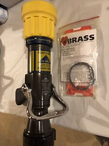 Elkhart Brass Fire Hose Nozzle 2 1 2 In Yellow Sm 30fglp