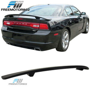 Fits 11 19 Dodge Charger Oe Factory Trunk Spoiler Rear Wing Abs