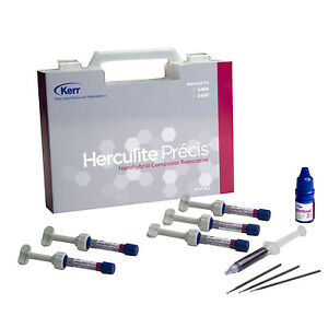Kerr Herculite Precis Composite Restorative Kit 5 Syringes 1 Optibond S 2 Gel